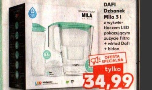Zestaw DAFI dzbanek Mila 3l z wyświetlaczem LED + bidon 0.6l + wkład Dafi - Kaufland
