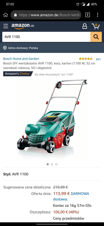 Bosch DIY wertykulator AVR 1100 121 Euro