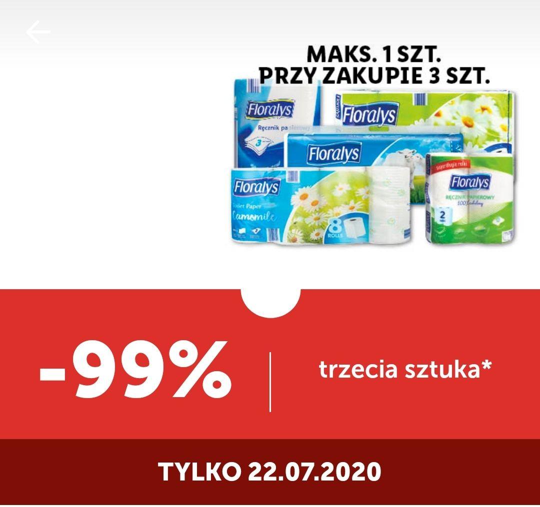 Papiery i ręczniki marki Floralys i Frotto trzecia szt 99% taniej - Lidl