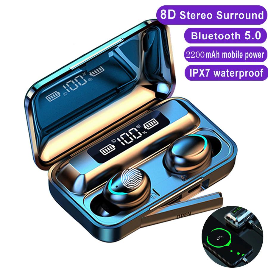 Słuchawki F9-5 z Bluetooth 5.0 i wodoodpornością IPX7 za $4.99