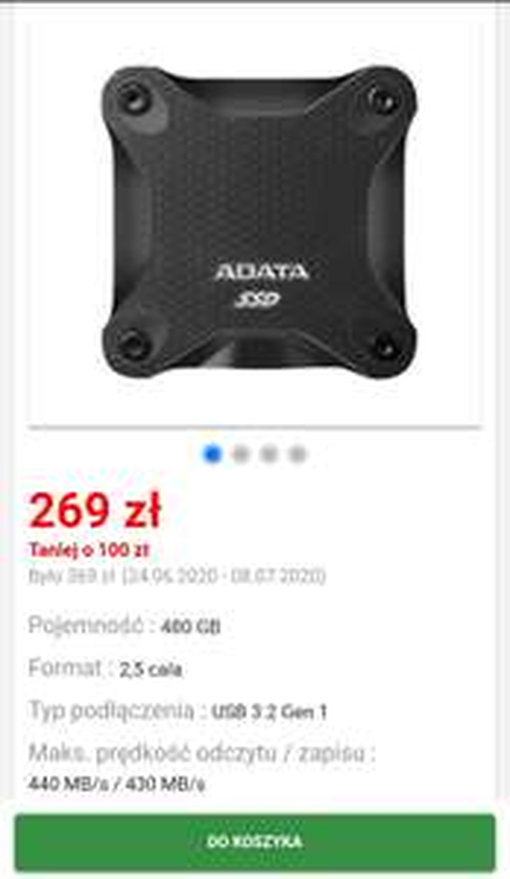 Adata SD600Q 480GB SSD USB3 (czarny) oleole.pl