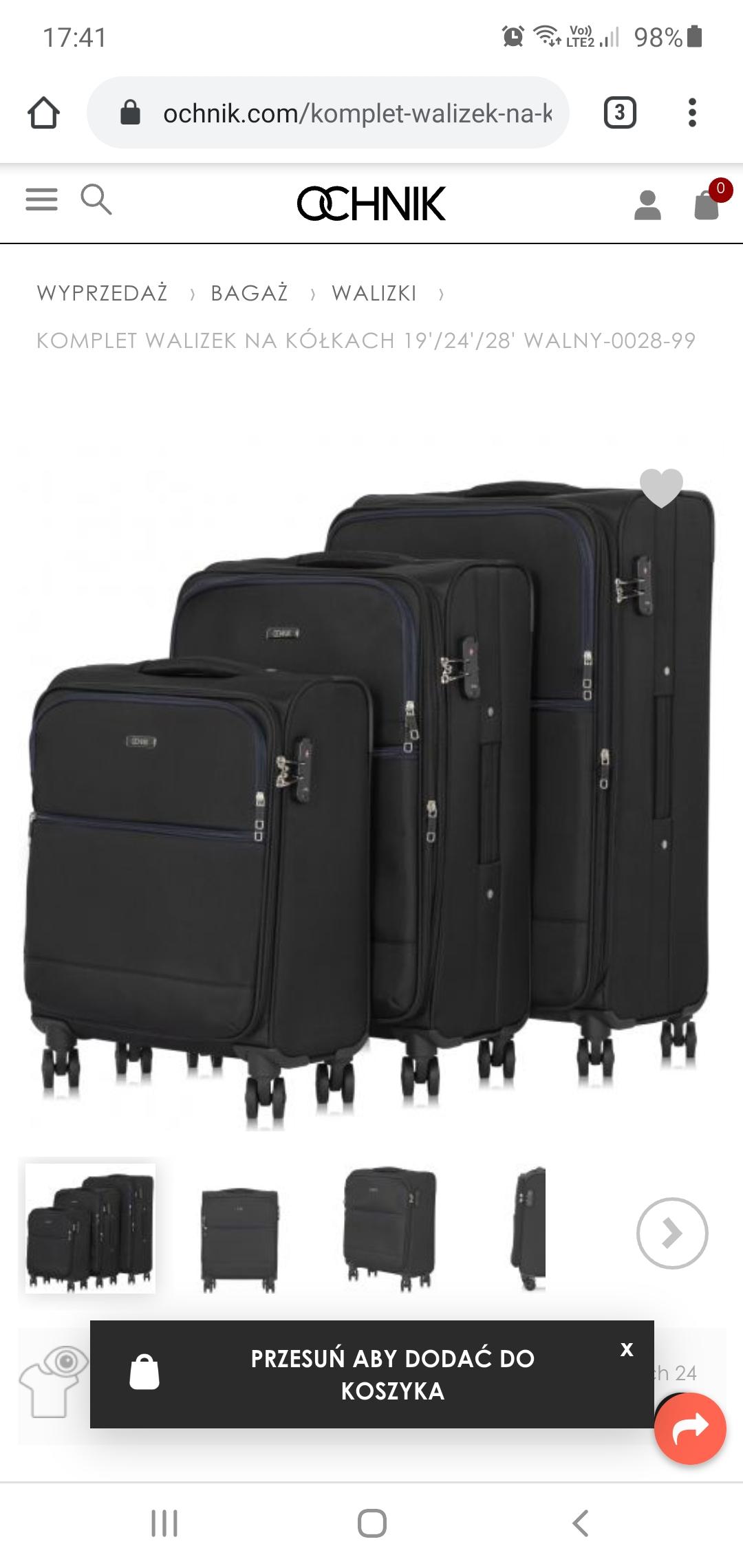 Komplet walizek Ochnik