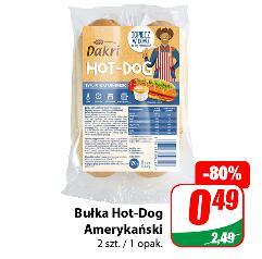 Bułka Hot-Dog Amerykański 2 szt./opak. @Bakłażan 3,99 zł/kg @Arbuz 1,59 zł/kg @Morele 4,99 zł/kg @Śliwki 3,99 zł/kg oraz inne promocje @Dino
