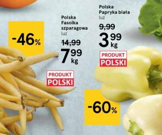 Papryka biała 3,49 zł/kg @Tesco