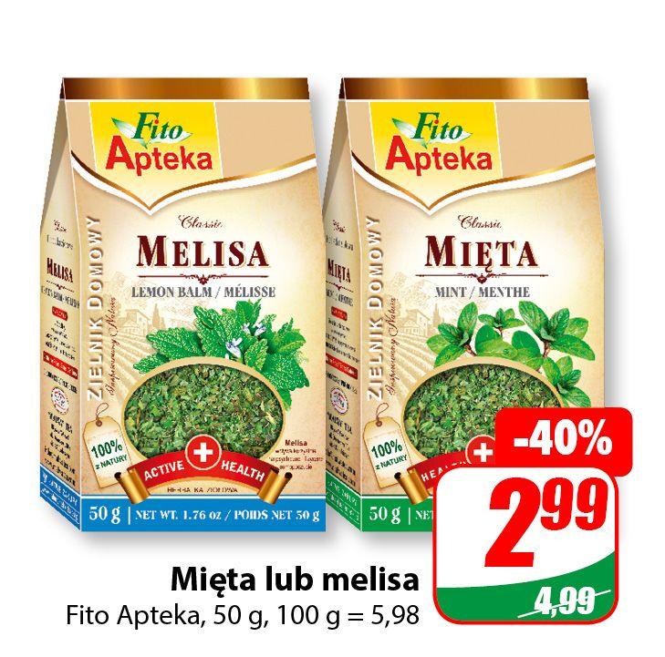 Mięta lub Melisa 50g Fito Apteka - DINO