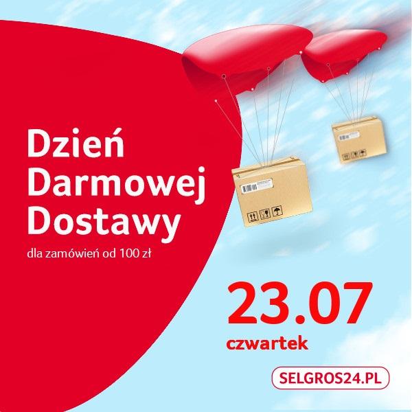 23.07 - Dzień darmowej dostawy w Selgros24.pl