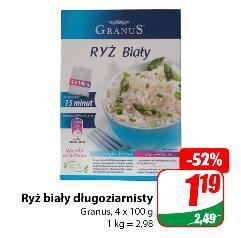 Ryż biały długoziarnisty Granus 4x100g @Dino