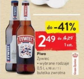 Piwo Żywiec 0,5 l wybrane rodzaje oraz Żywiec 0,5l 2,39 zł/puszk przy zakupie 2x4-packa (od 01.09 do 07.09.2020 r.) @Intermarche