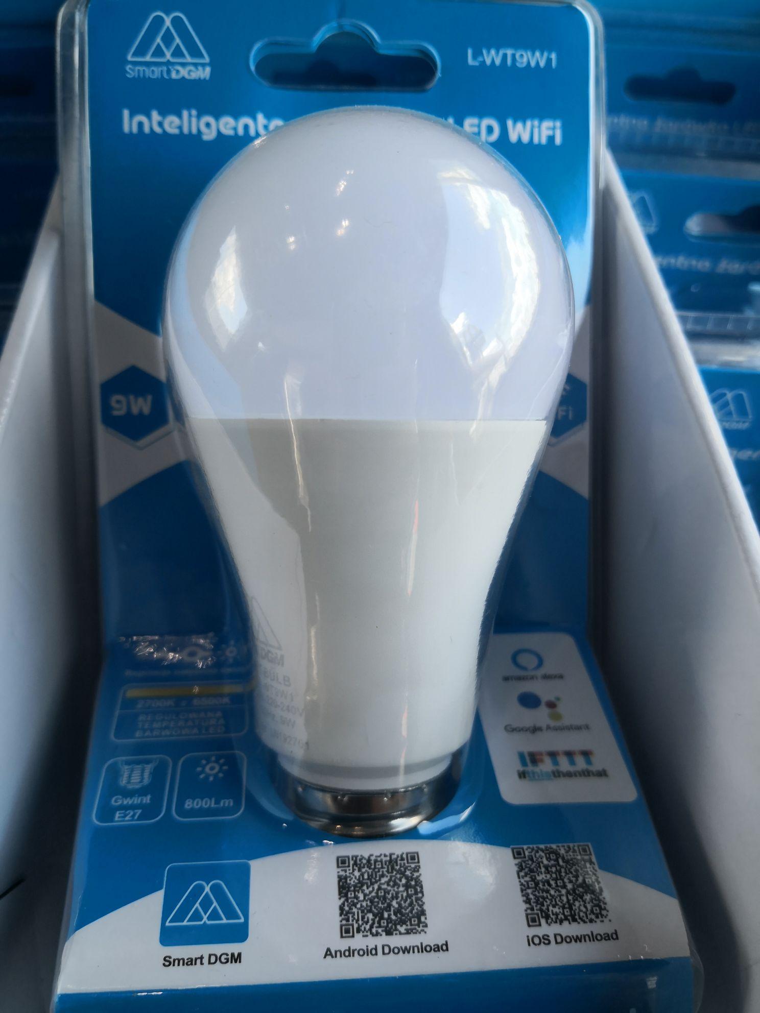 Inteligentna żarówka LED Smart L-WT9W1 biedronka