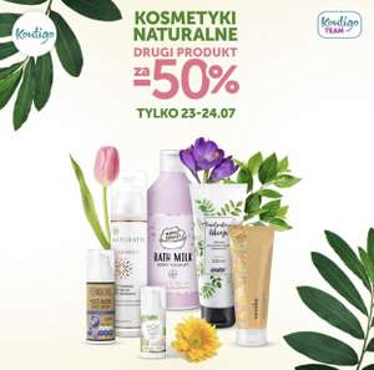 50% zniżki na drugi produkt w @Kontigo - marki naturalne tj. Resibo, Anwen, Clochee