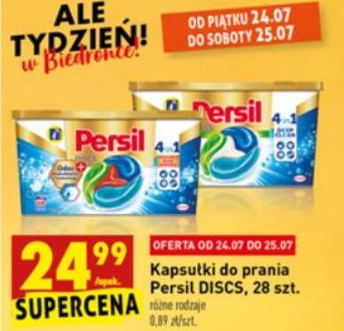Kapsułki do prania Persil 28 szt w Biedronce