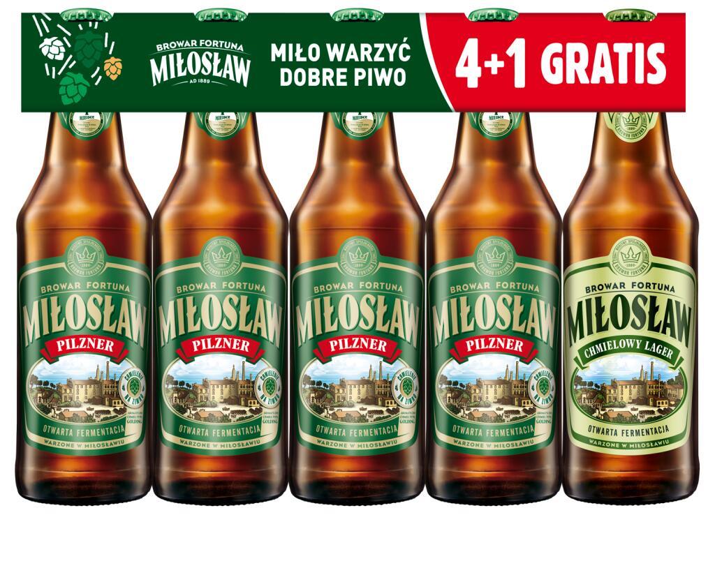Miłosław Pilzner i Niefiltrowane 4+1 Lager gratis Stacje paliw Crab
