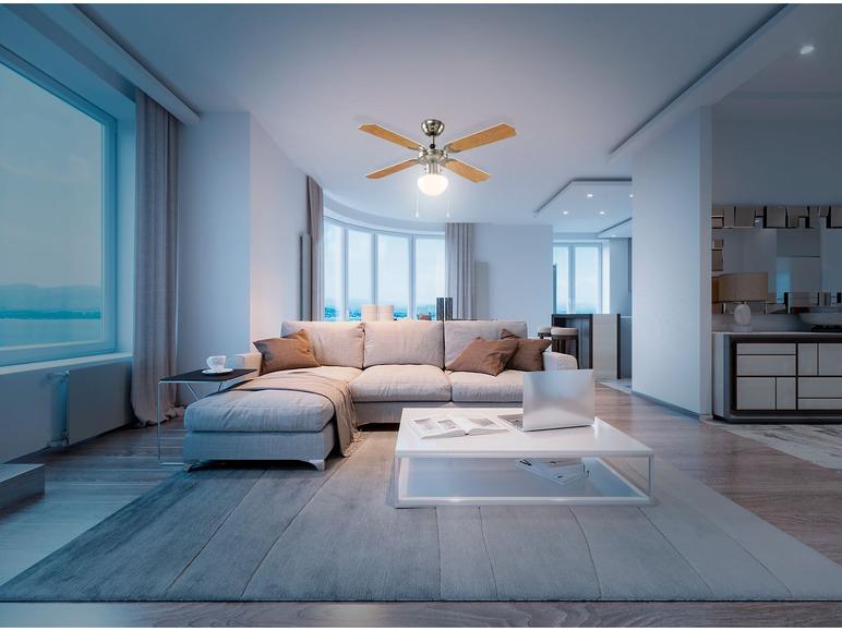 LIVARNOLUX Wentylator sufitowy z lampą LED 50 W @Lidl