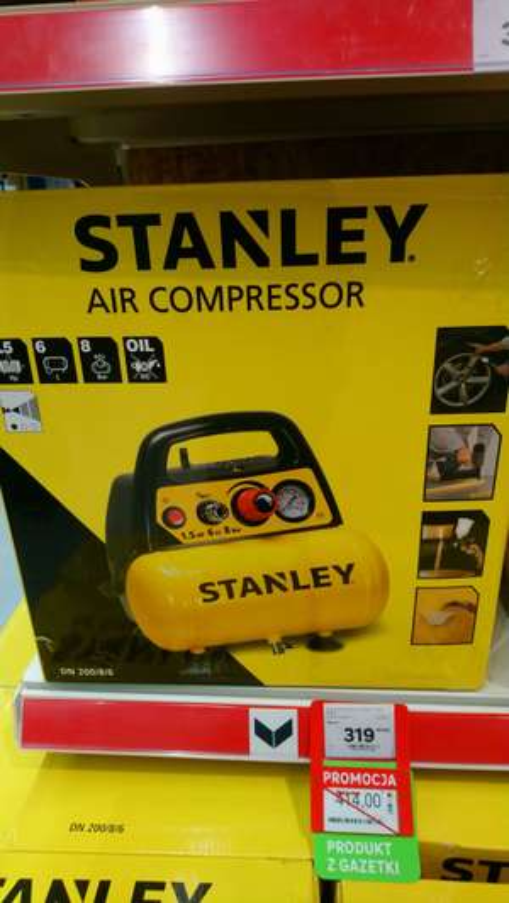 Kompresor Stanley 6L 8 bar ( Leroy Merlin)