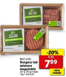 NEXT LEVEL burgery lub mielone wegańskie