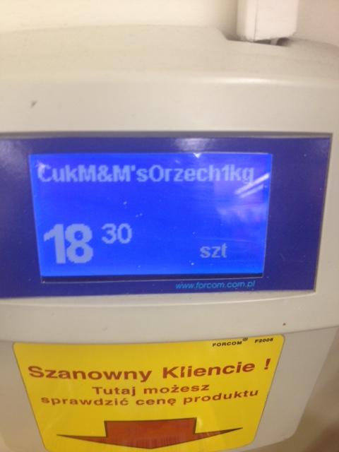 Cukierki M&M's 1kg za 18,30zł @ Biedronka