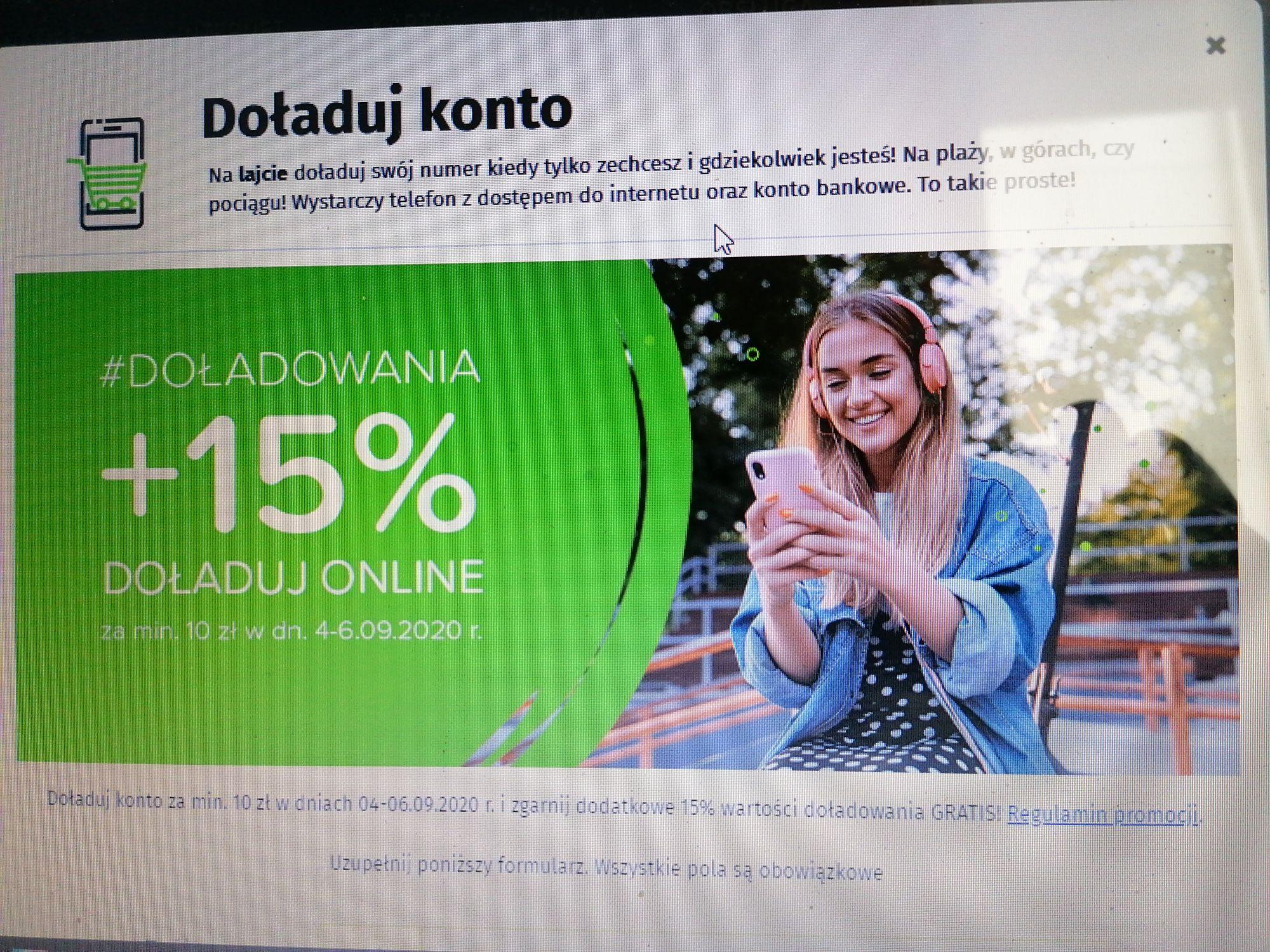 Lajt mobile 15% extra