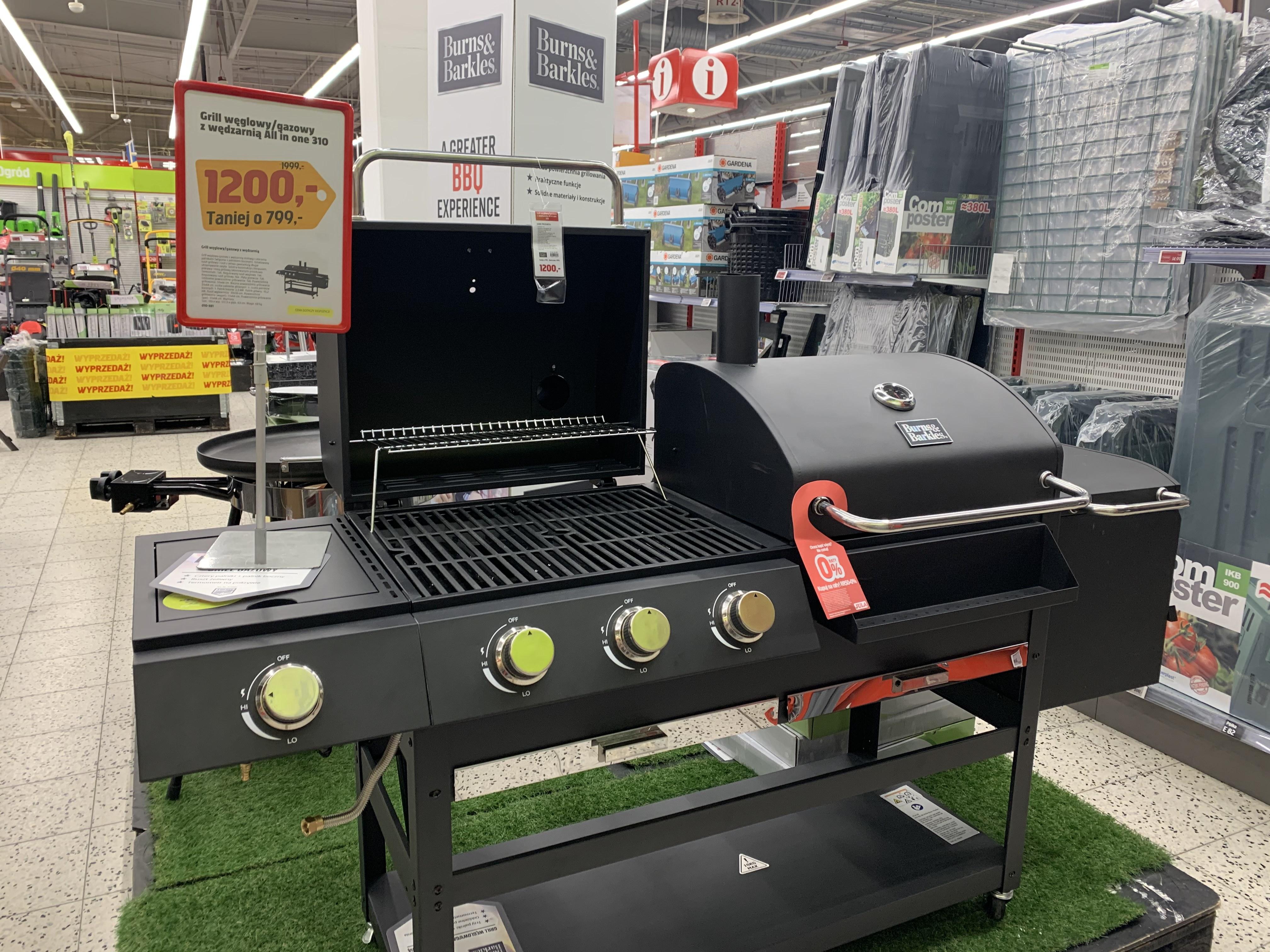 Grill węglowo/gazowy z wędzarnia All in One 310