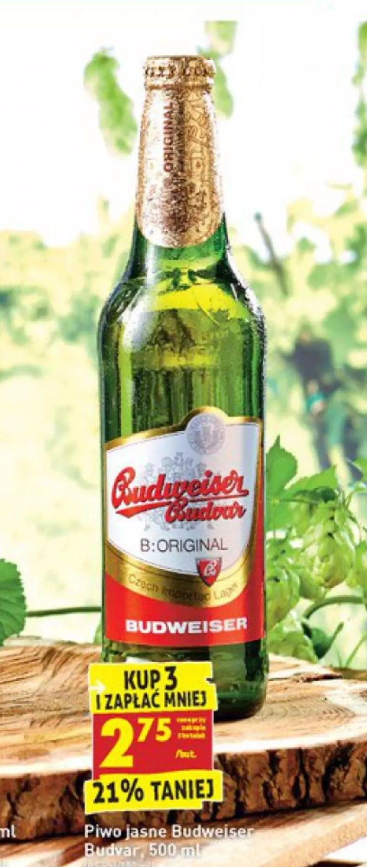 Piwo Budweiser Budvar Original 500ml za 2,75zł przy zakupie 3   07.09 - 12.09 @Biedronka