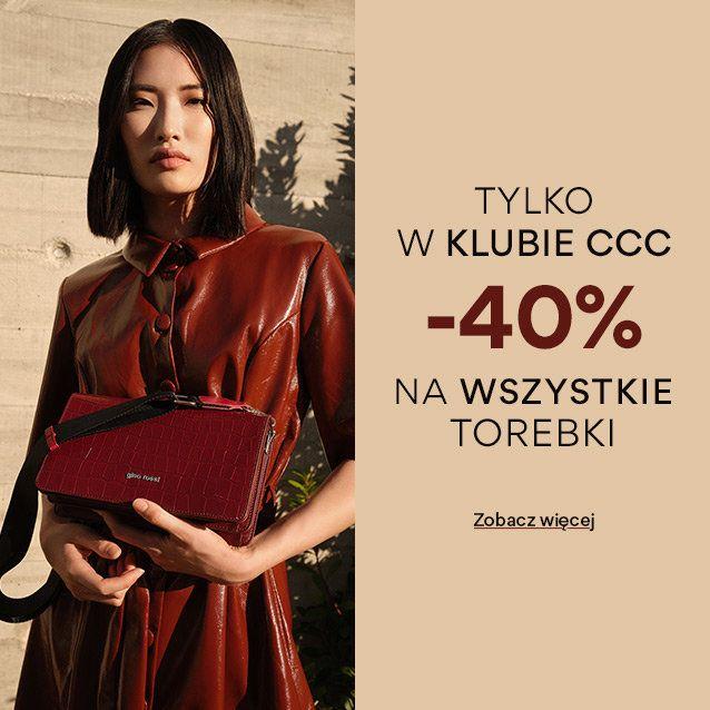 -40% w CCC na wszystkie walizki, torby i plecaki