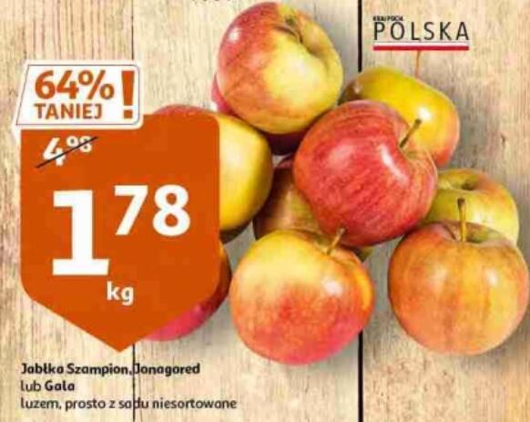 Jabłka 1,78 zł/kg | Jabłka 3kg+wiaderko 5,34 zł | Jabłka Red Jonaprince 3,99 zł/2kg @Auchan