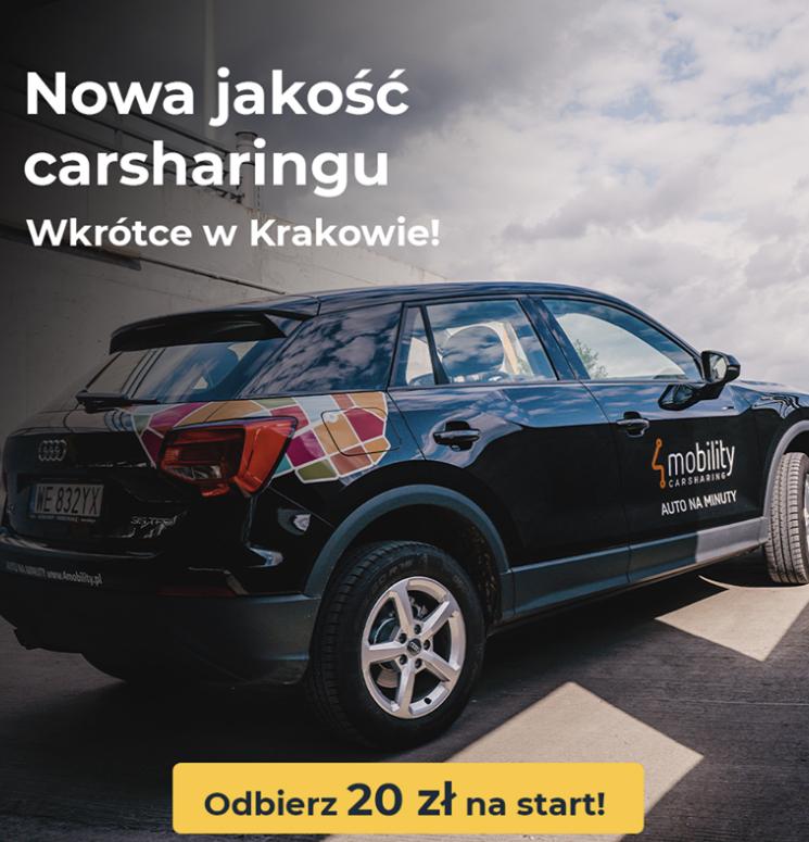 4mobility Car Sharing -20zł dla KRAKOWA