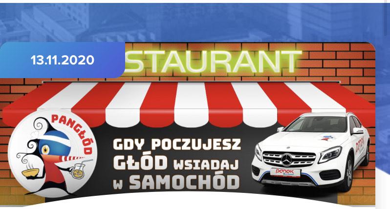 Pangłod - gratisy w restauracjach za dojazd Pankiem