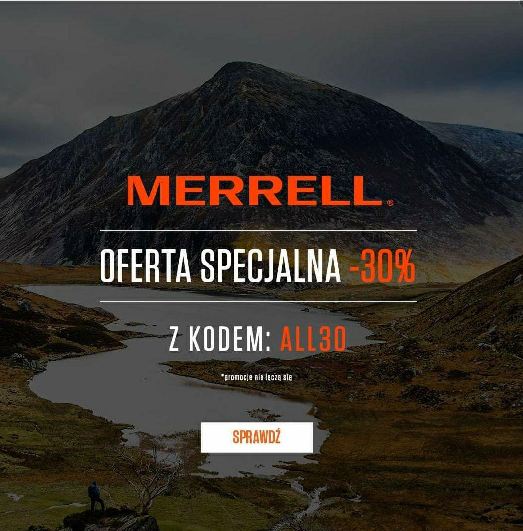 MERRELL -30% w sklepie https://www.merrell.pl/