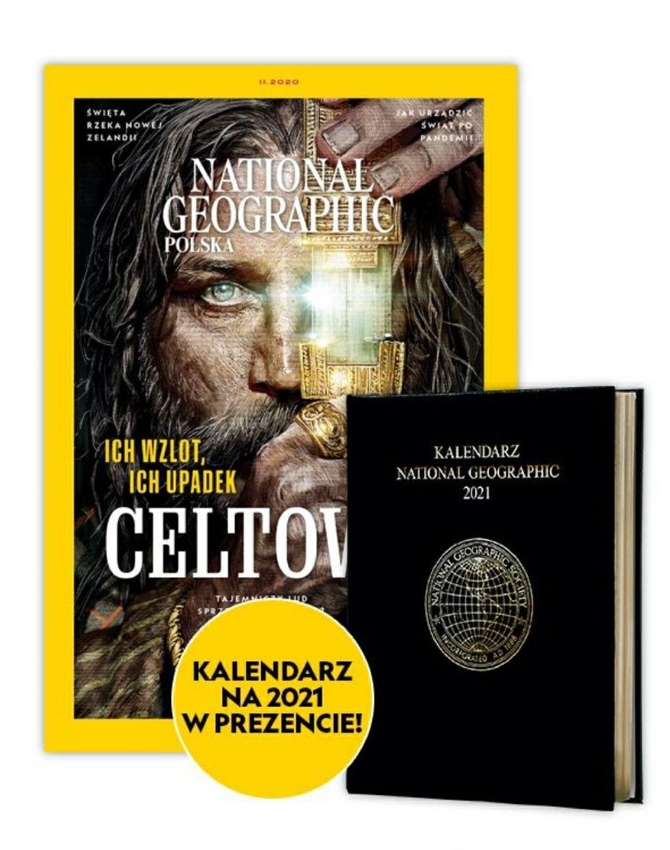Prenumerata National Geographic opcja z kalendarzem oraz Traveler - Kultowy.pl