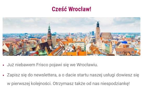 Frisco.pl - otwarcie we Wrocławiu, kod na 50zł od 100zł + darmowa dostawa!