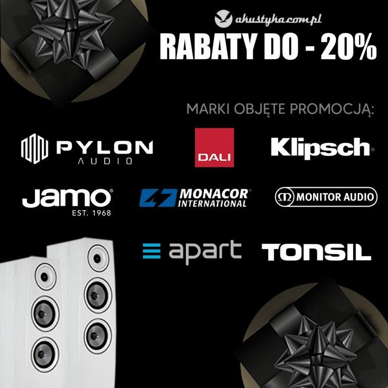-20% na wybrane marki na akustyka.com.pl kolumny głośniki wzmacniacze zestawy