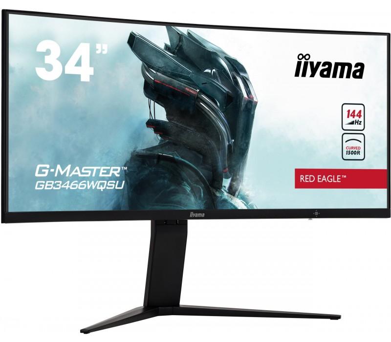"Monitor iiyama G-Master GB3466WQSU Red Eagle 34"" VA, 144Hz, 1ms, zakrzywiona matryca"