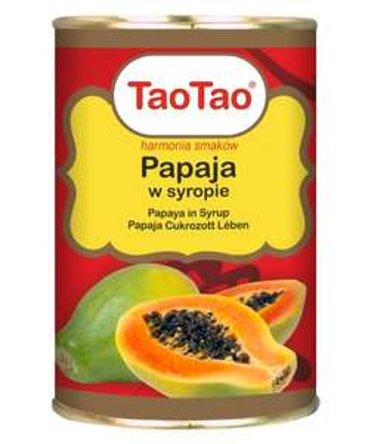 Papaja w syropie TaoTao 425 g TERMIN 31-01-2021