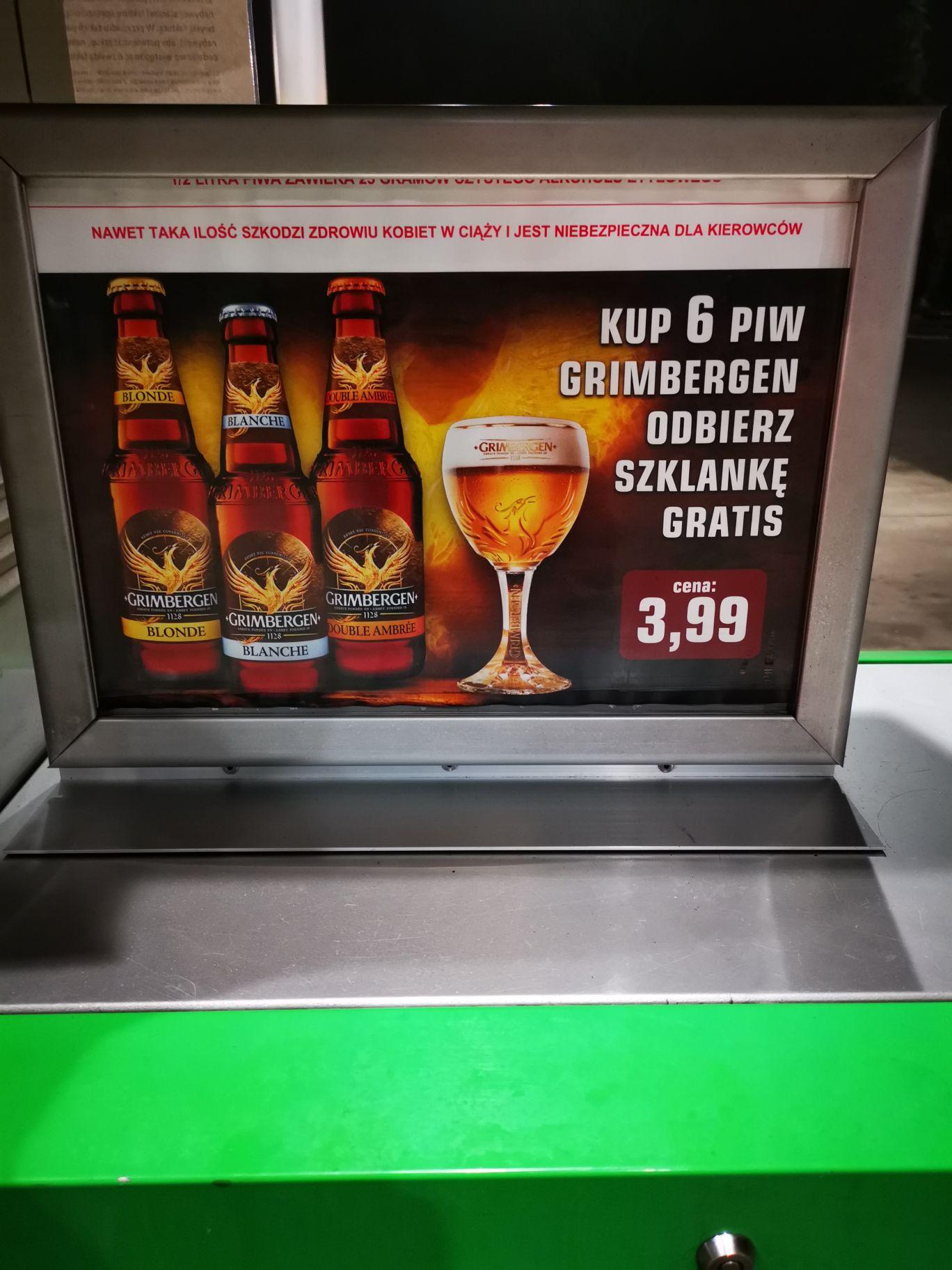 Darmowy pokal Grimbergen przy zakupie 6 x piwo Stacje Paliw Crab Śląsk