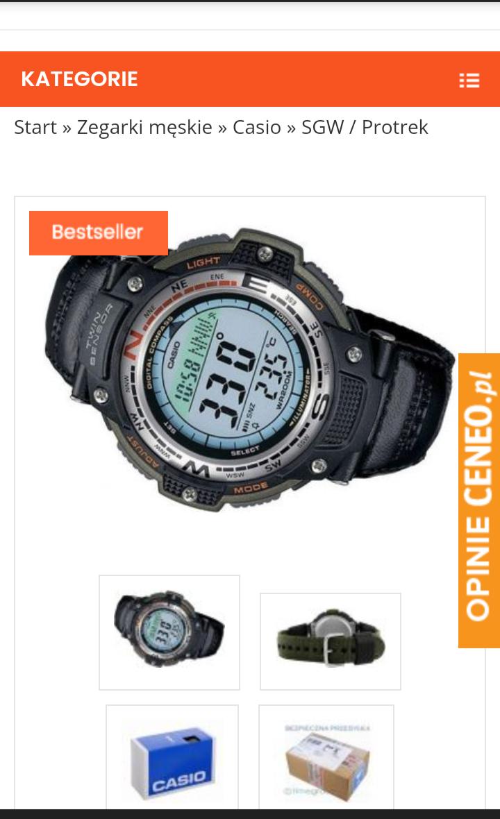 Zegarek Casio SGW -100b -3v