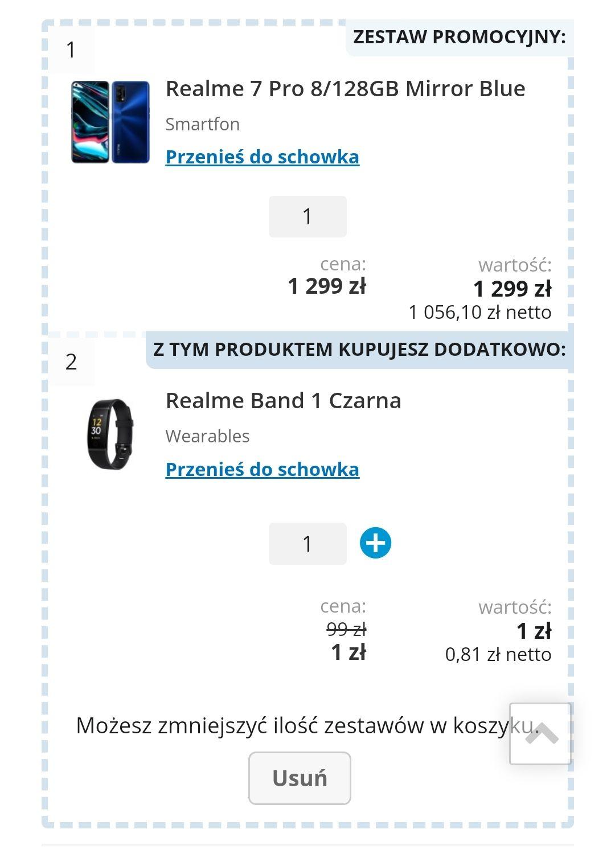 REALME 7 PRO MIRROR BLUE 1299zł + REALME BAND 1 ZA 1 ZŁ!