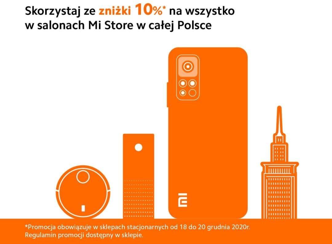 -10% na wszystko w sklepach Mi Store w całej Polsce