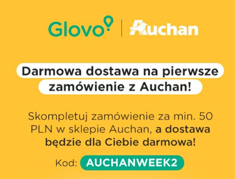 Glovo Auchan Darmowa dostawa MWZ 50 zł