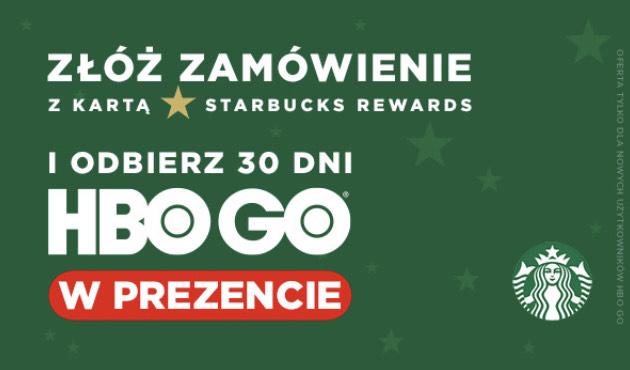Darmowe HBO GO na 30 dni za zakup z kartą Starbucks