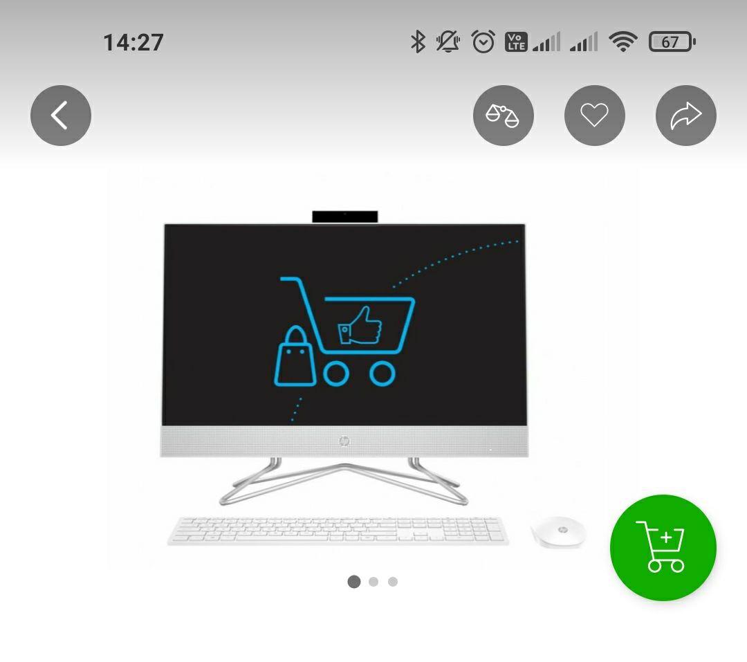 HP 24 AiO Ryzen 5-3500/8GB/512 White