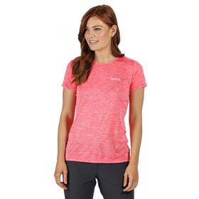 Regatta Fingal V Koszulka Kobiety, neon pink marl/plain