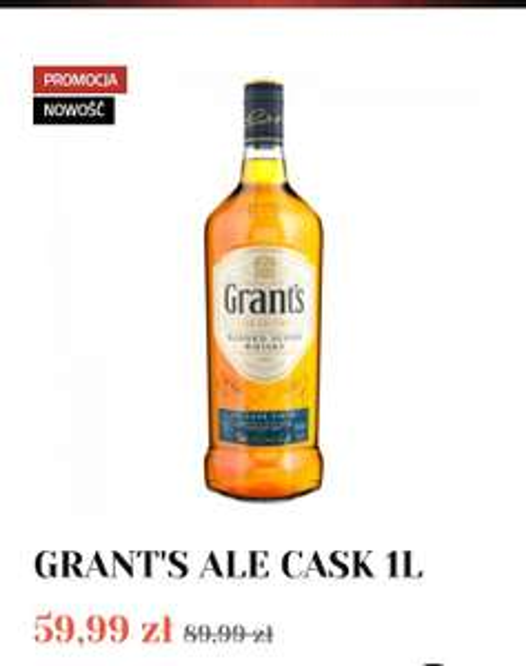 Whisky Grants Ale Cask 1L - Alkooutlet.pl