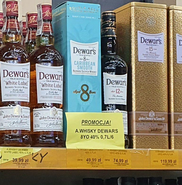 Whisky Dewars 8yo 0.7L - market Karolina Dąbrowa Górnicza