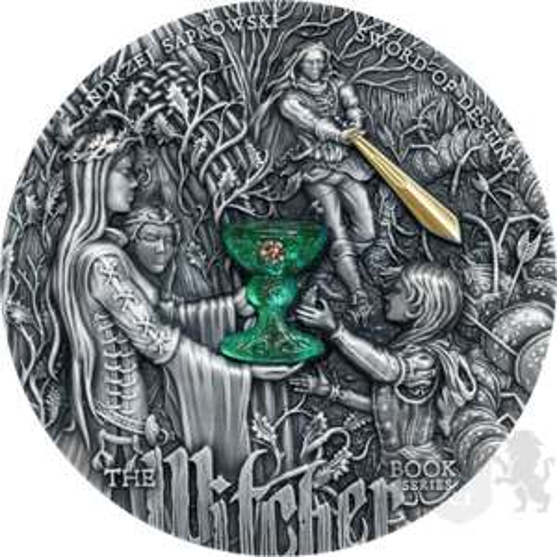 Moneta 5$ Miecz Przeznaczenia - Wiedźmin BŁĄD SKLEPOWY
