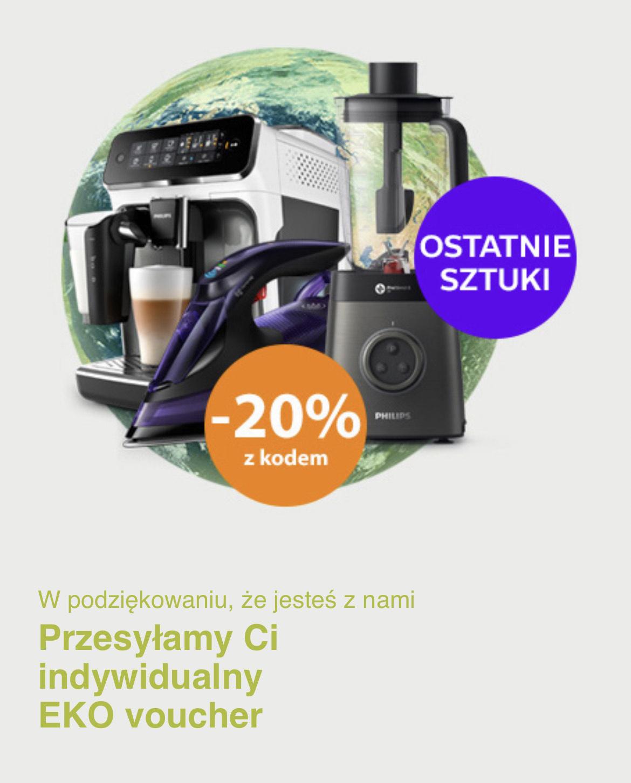 Eko voucher 20% na produkty odnowione w sklepie Philips