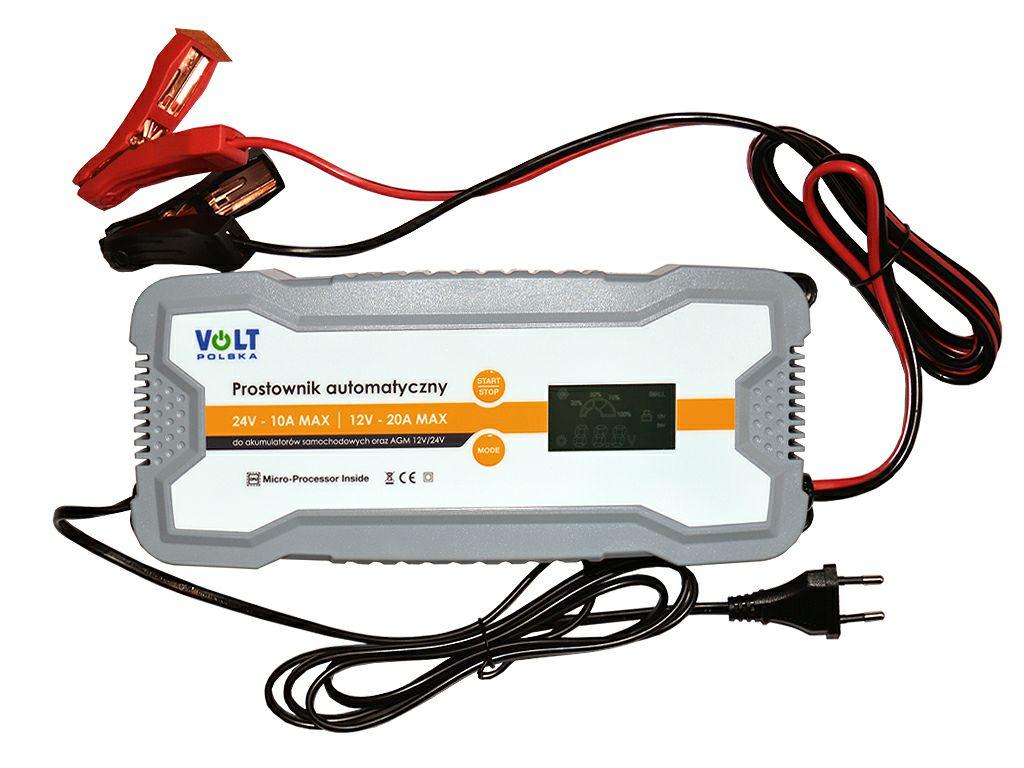 Prostownik ładowarka do akumulatora automatyczny 12-24V 20A VOLT