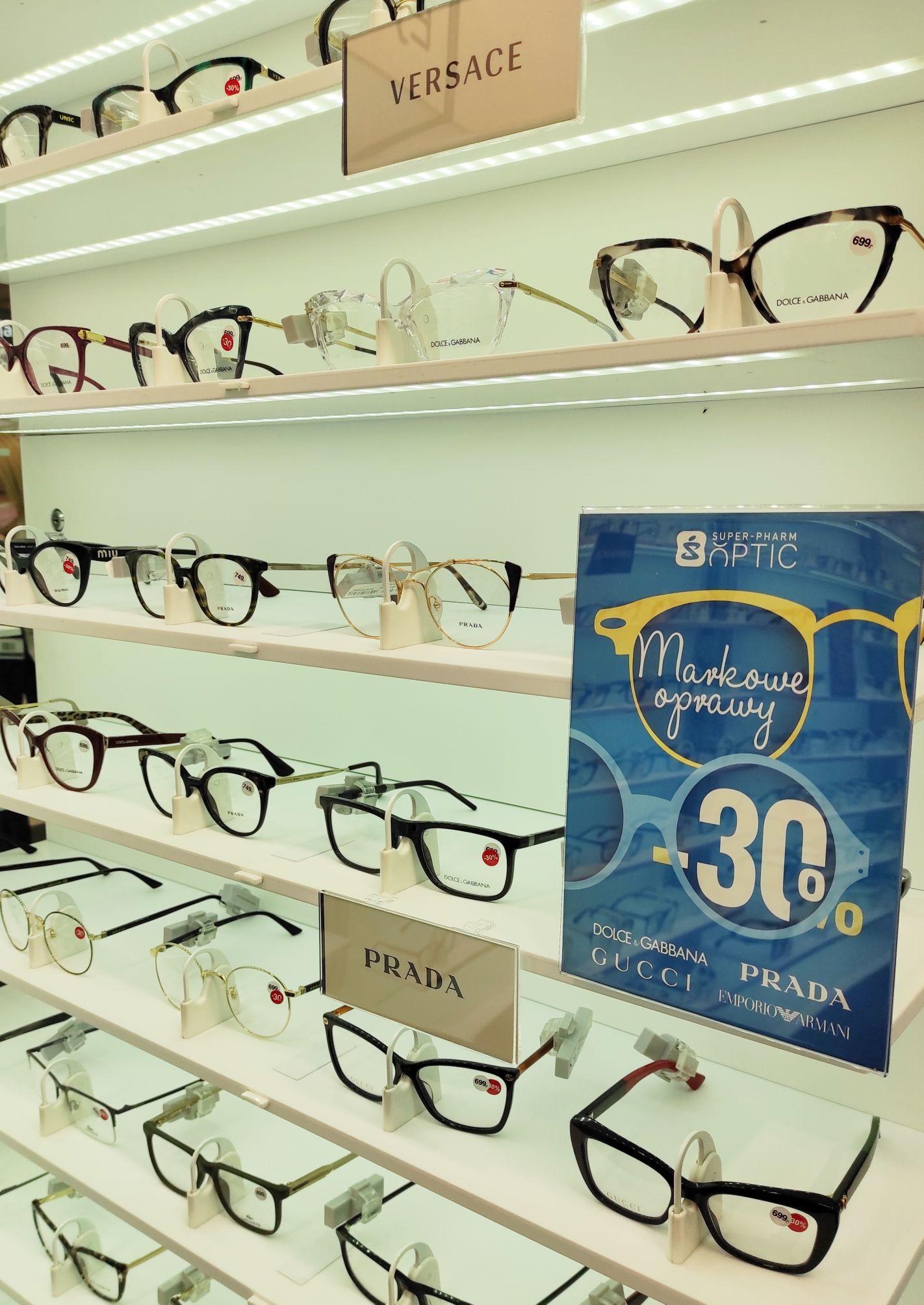 Markowe oprawy -30%, badanie wzroku za 1 zł, -30% na całe okulary, Super Pharm Optic