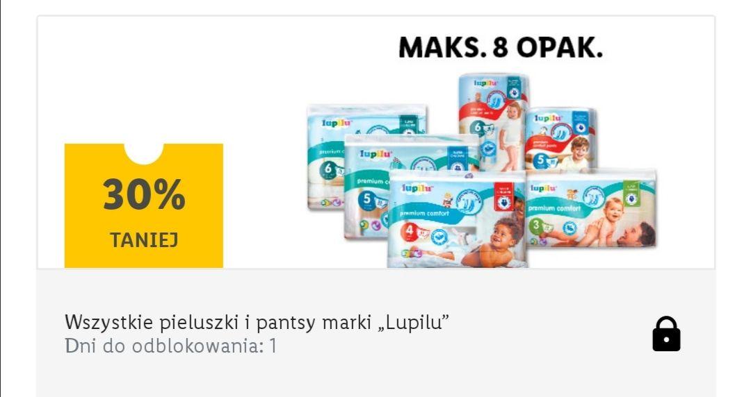 Lupilu - wszystkie pieluchy i pantsy -30% max 8szt - Lidl Plus