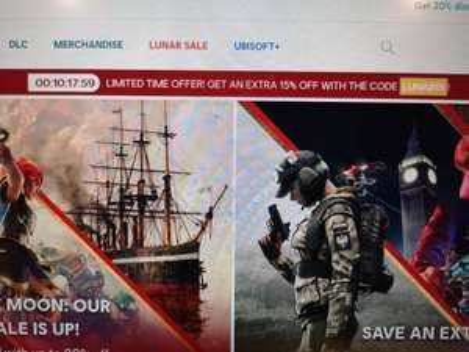 Kod promocyjny Ubisoft store - 15% na wszystko