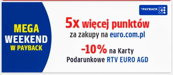 "Rabat 10% na Karty Podarunkowe RTV EURO AGD"" Payback, tylko do 14 lutego"